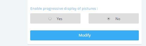 Progressive display disable