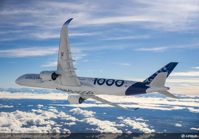 L'A350-1000 effectue son premier vol d'essai