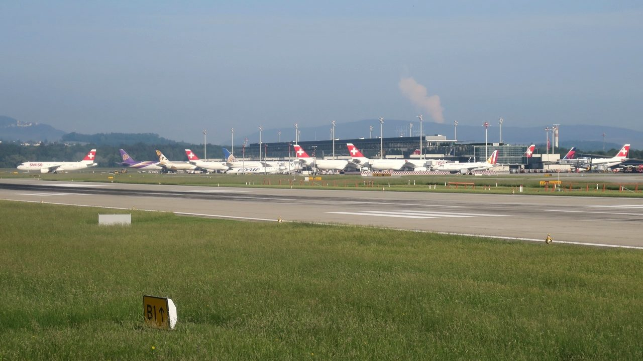 Coulisses de l'aéroport de Zurich pour le Meet-up Flight-Report du 16 au 17 mars 2019