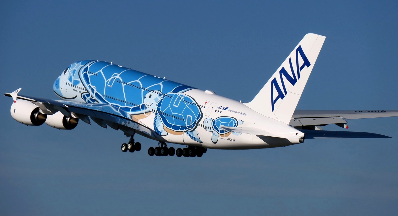 All Nippon Airways prend livraison de son premier Airbus A380 « Flying Honu »