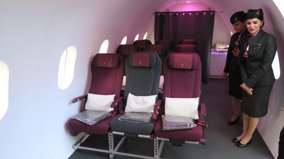 Qatar Airways présente son nouveau siège Economique aux parisiens