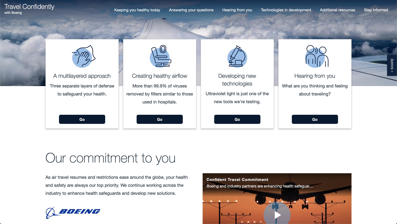 Portail Confident Travel Boeing