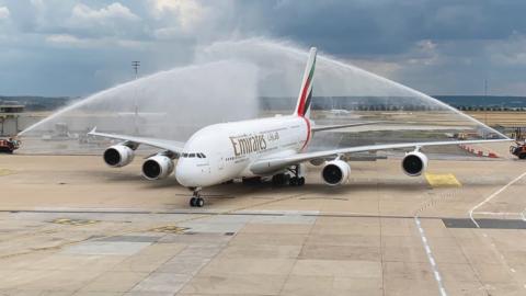 L'A380 d'Emirates de retour dans le ciel et à Paris